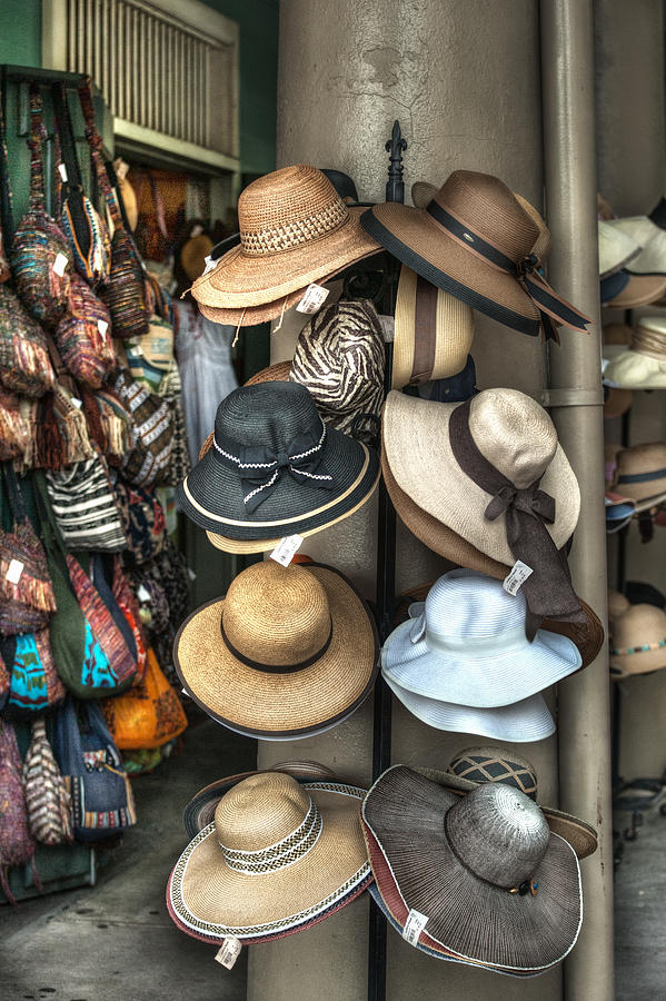 French Market Photograph - French Market Hats For Sale by Brenda Bryant