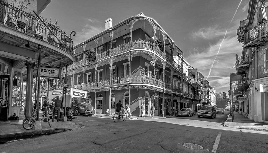 French Quarter Afternoon Bw Photograph