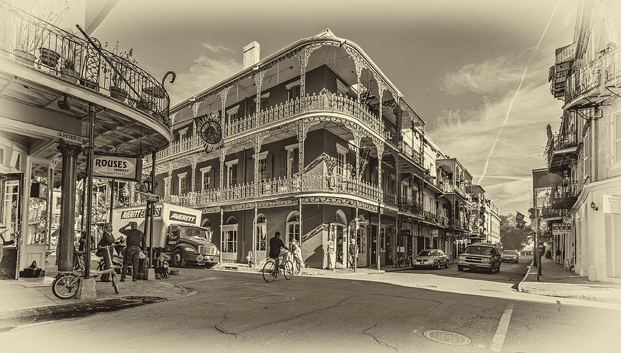 French Quarter Afternoon Sepia Photograph