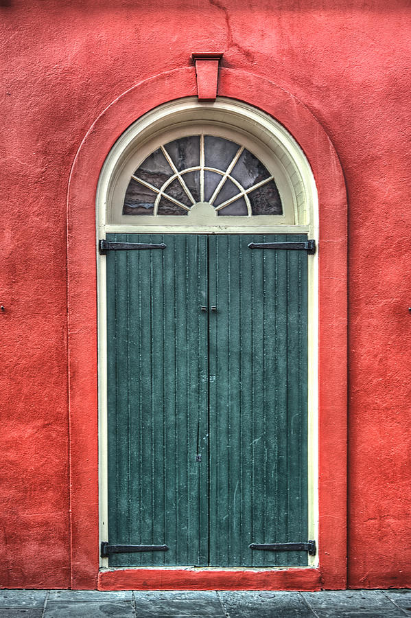 French Quarter Arched Door Photograph  - French Quarter Arched Door Fine Art Print