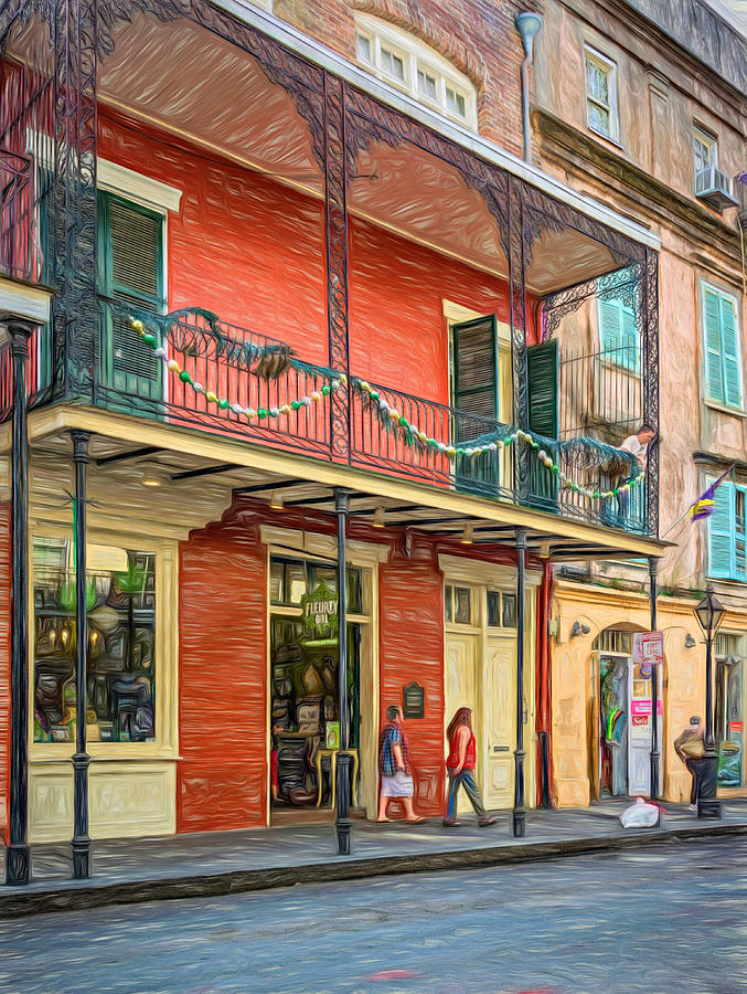 French quarter balcony paint photograph by steve harrington for French quarter balcony
