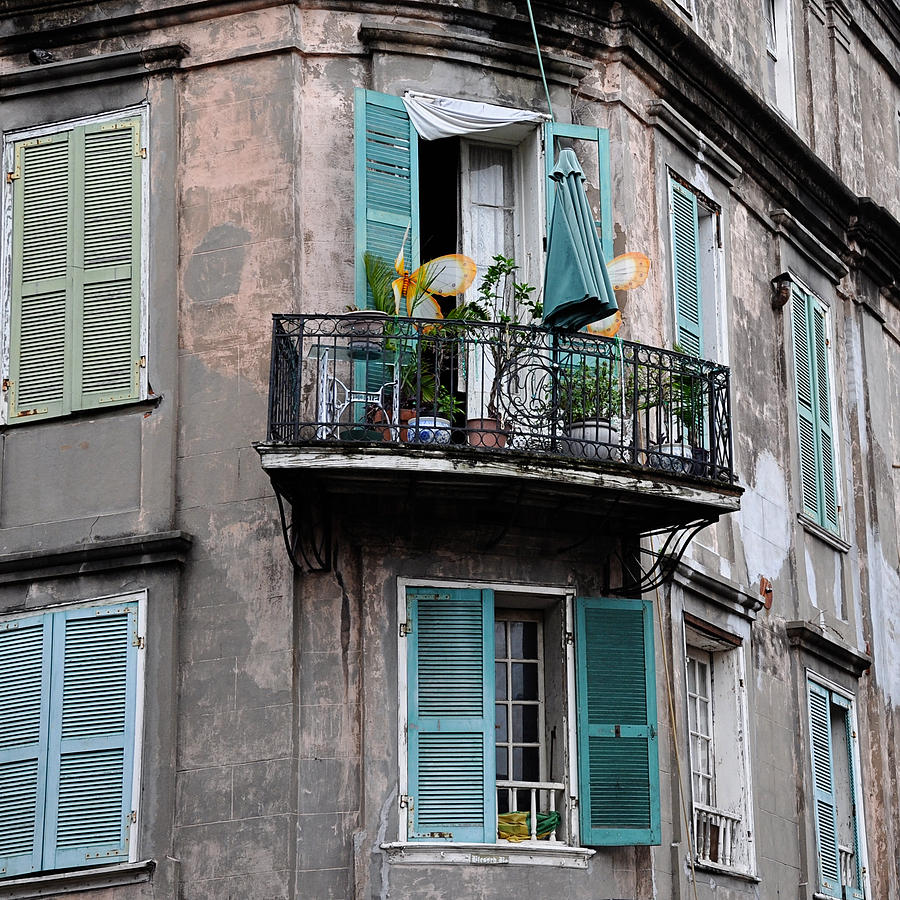 french quarter balcony photograph by todd hartzo