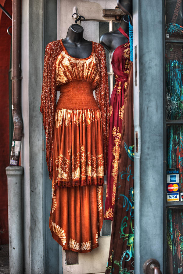 French Quarter Clothing Photograph  - French Quarter Clothing Fine Art Print