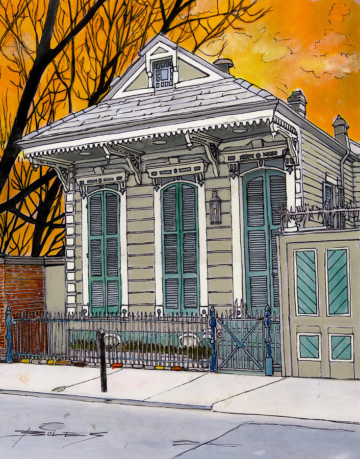French Quarter House 381 Painting