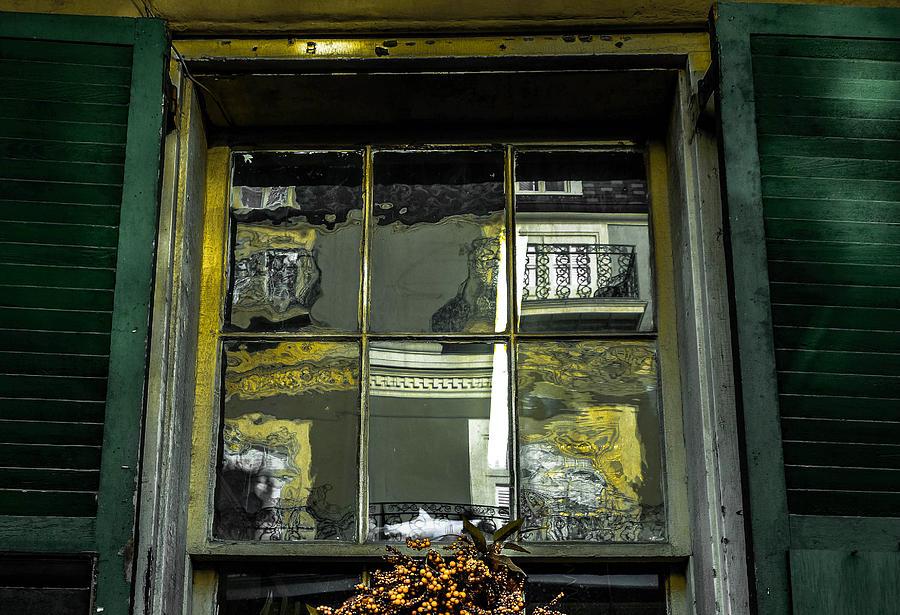 Window Photograph - French Quarter Window by Louis Maistros