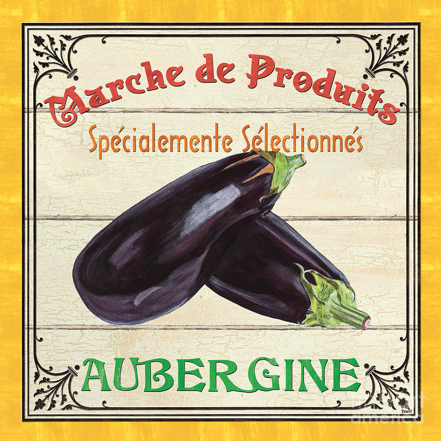French Vegetable Sign 3 Painting