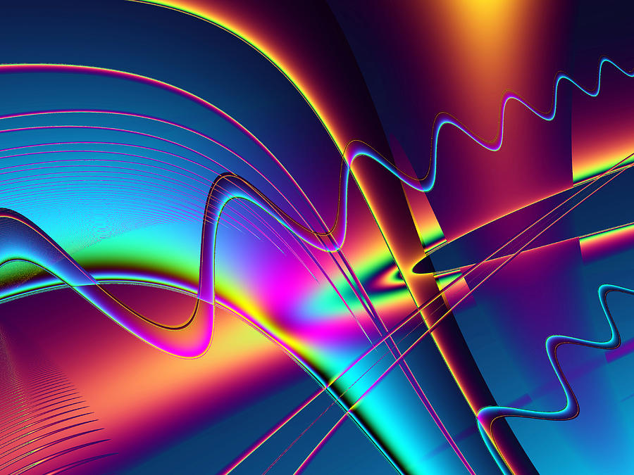 Abstract Digital Art - Frequency by Wendy J St Christopher