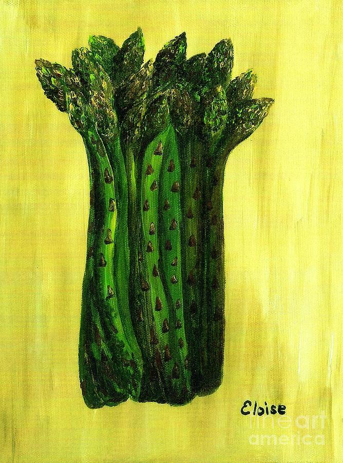 Fresh Asparagus Painting