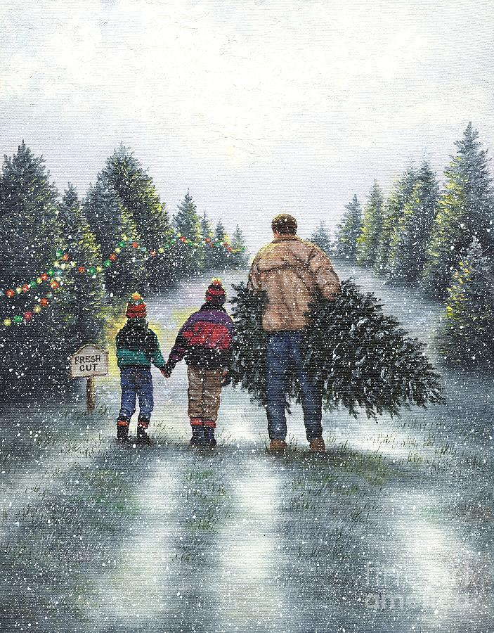 Fresh Cut Christmas Tree Painting By Vickie Wade
