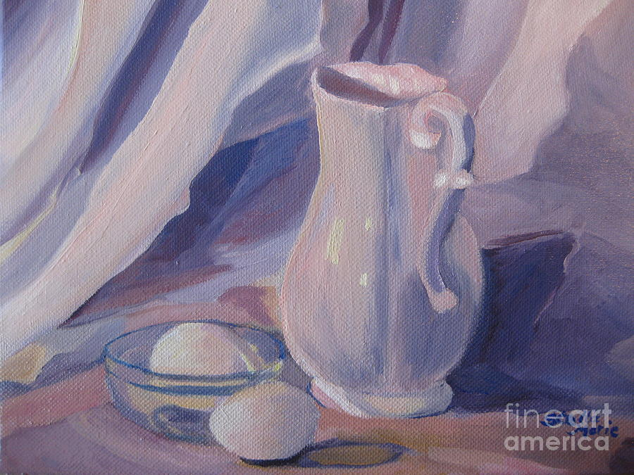 Eggs Painting - Fresh Farm Eggs by Stella Sherman