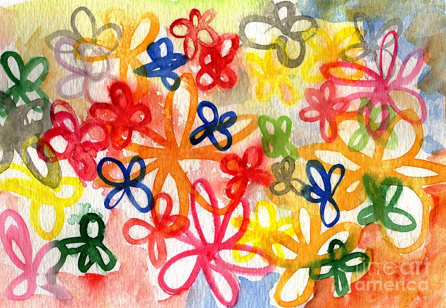 Flowers Painting - Fresh Flowers by Linda Woods