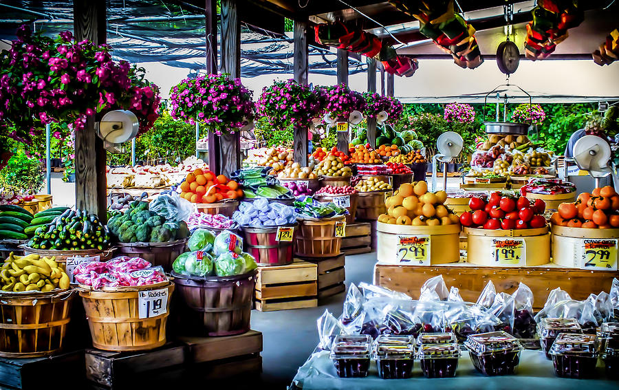 Fresh Market Photograph by Karen Wiles