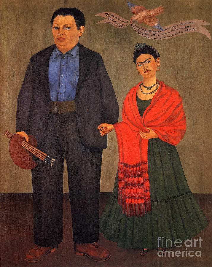 Frida Kahlo And Diego Rivera 1931 Painting  - Frida Kahlo And Diego Rivera 1931 Fine Art Print