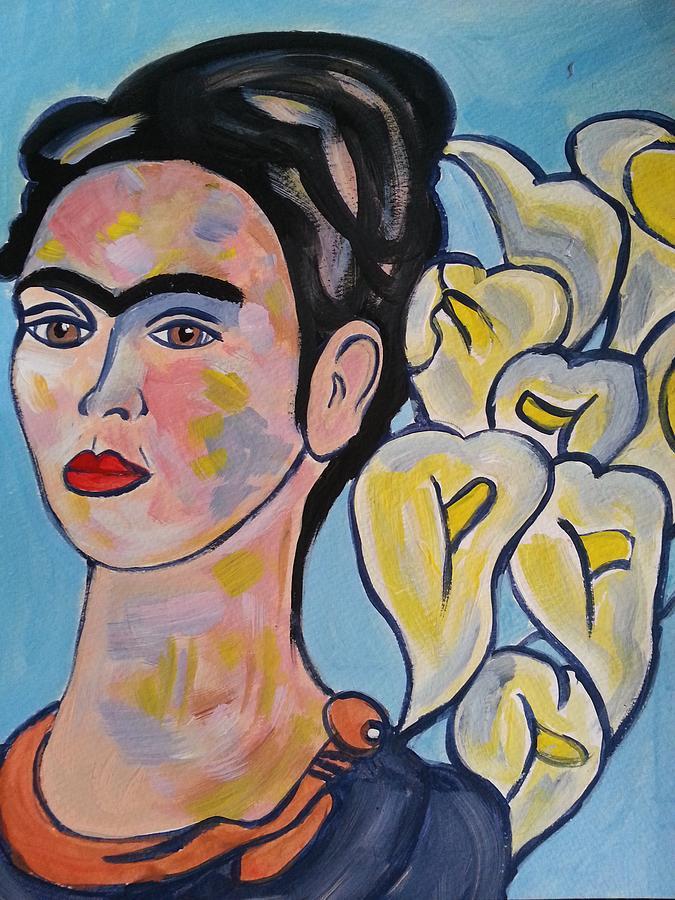 <b>Nikki Dalton</b> - frida-kahlo-with-calla-lilies-nikki-dalton