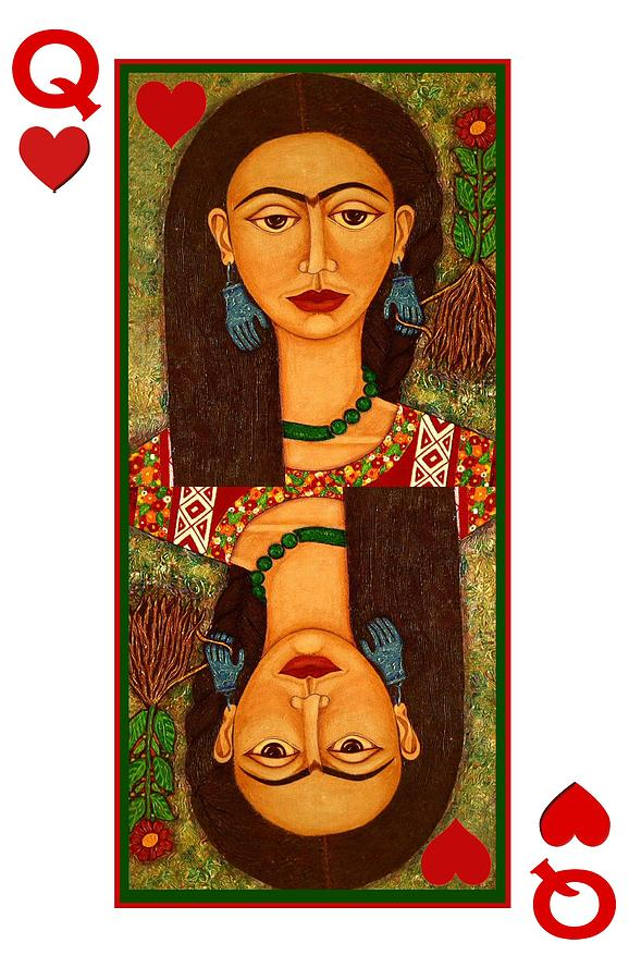 Frida Queen Of Hearts Painting  - Frida Queen Of Hearts Fine Art Print