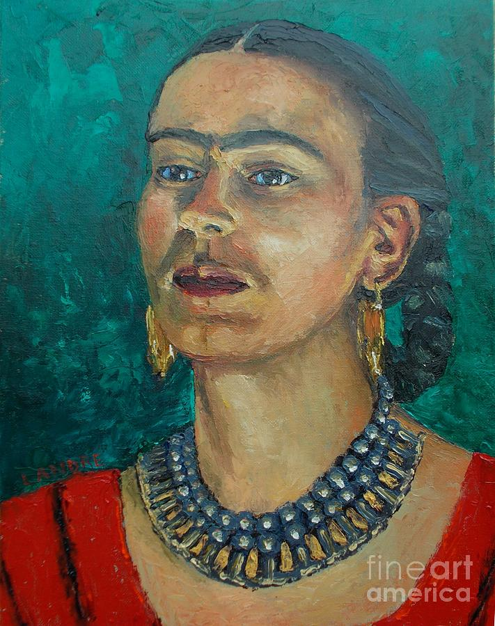 Woman Painting - Frida Teal by Lilibeth Andre