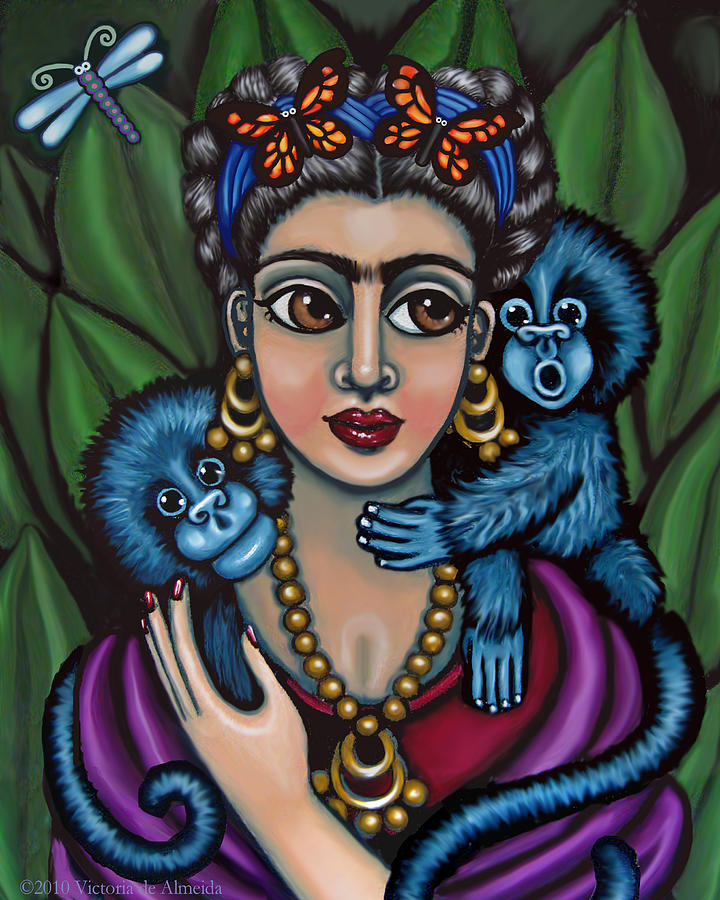 Fridas Monkeys Painting