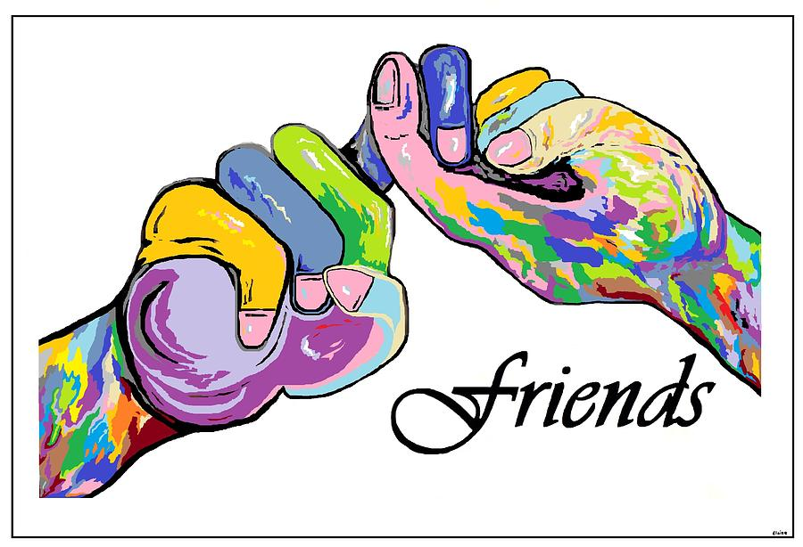 Friends . . . An American Sign Language Painting Painting  - Friends . . . An American Sign Language Painting Fine Art Print