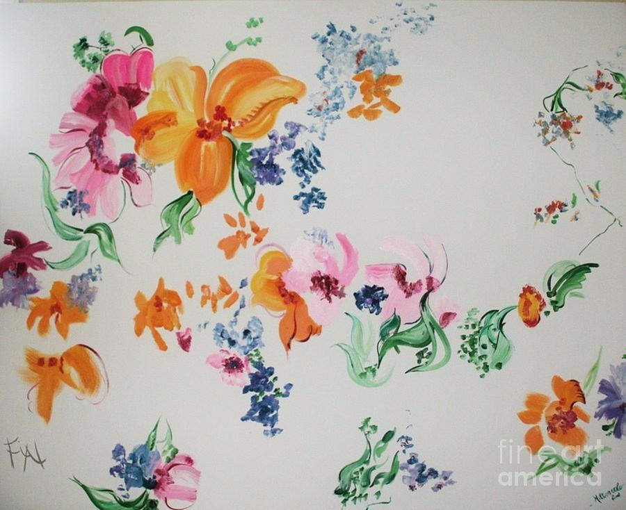 Friends Are Like Flowers Painting
