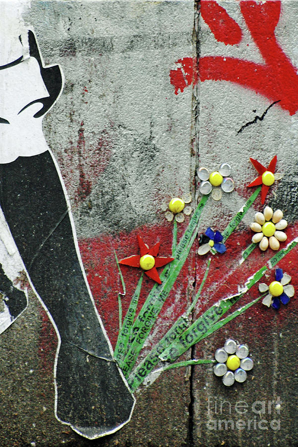 Friendship Flowers Graffiti Art Photograph  - Friendship Flowers Graffiti Art Fine Art Print