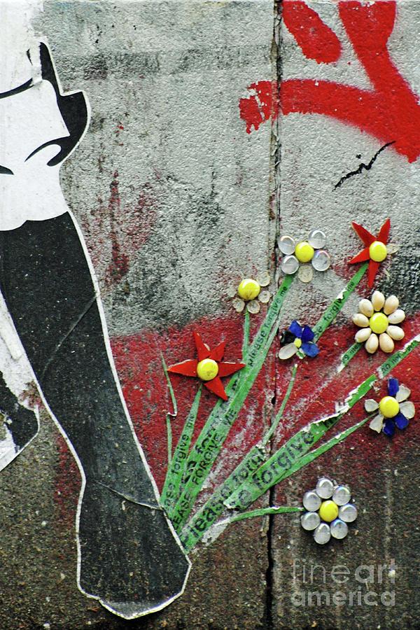 Friendship Flowers Graffiti Art Photograph
