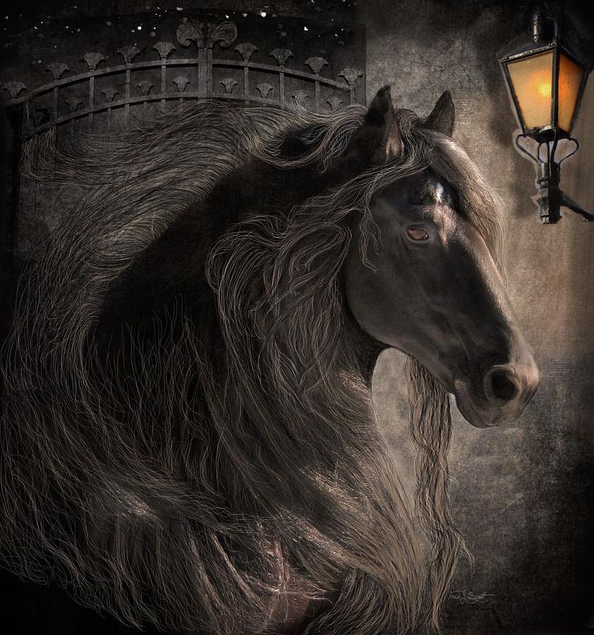 Friesian Horses Digital Art - Friesian Glow by Fran J Scott