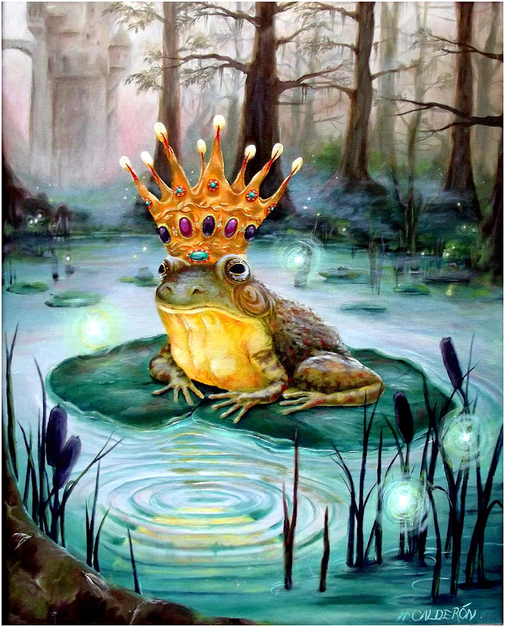 Frog Prince Painting - Frog Prince by Heather Calderon