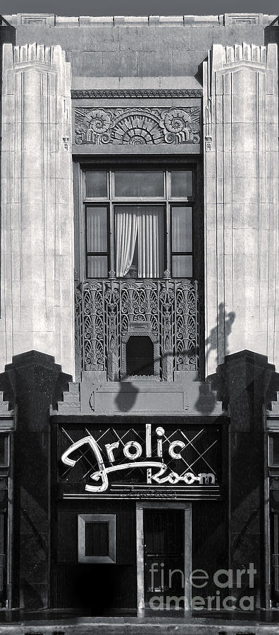 Frolic Room In Black And White Photograph