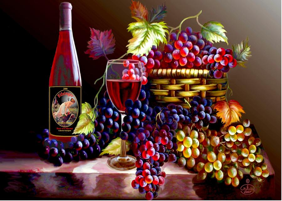 From Grapes To Wine Digital Art  - From Grapes To Wine Fine Art Print