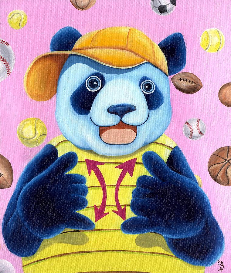 Panda Illustration Painting - From Okin The Panda Illustration 14 by Hiroko Sakai