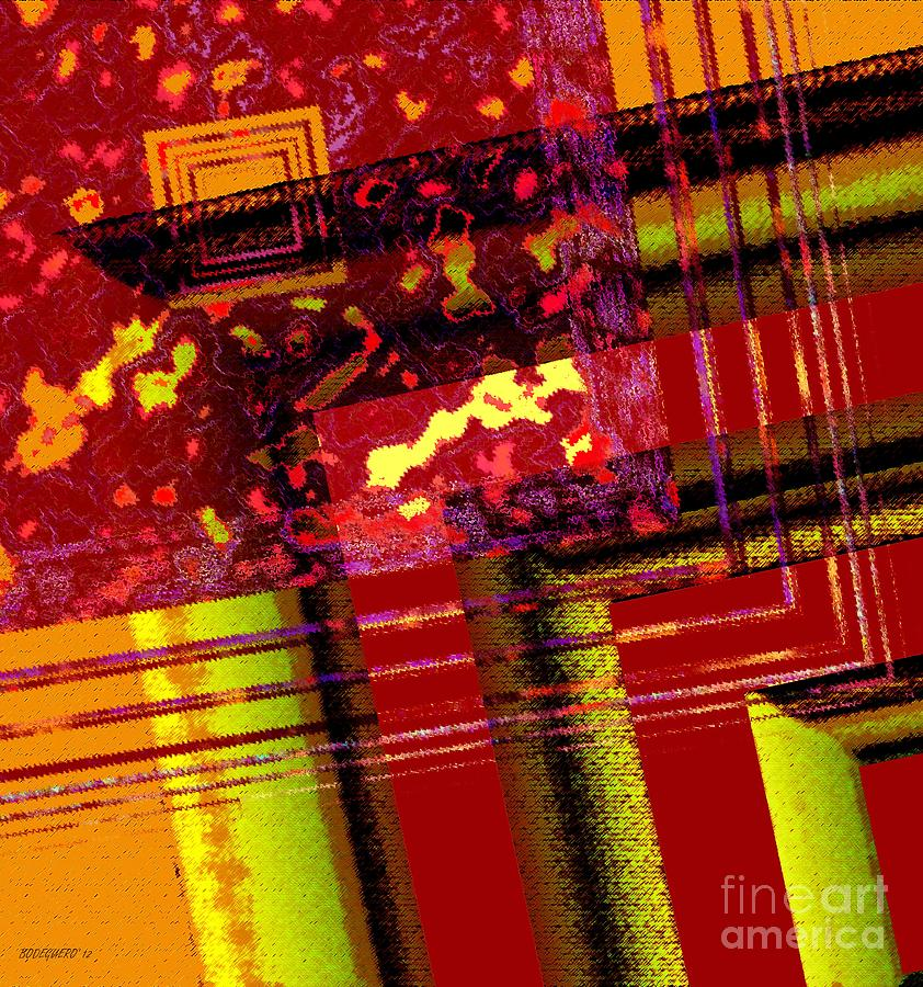Red Abstract Art Digital Art - From Red To Brown Tones by Mario Perez