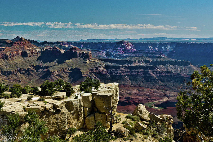 Abyss Photograph - From Yaki Point 2 Grand Canyon by Bob and Nadine Johnston