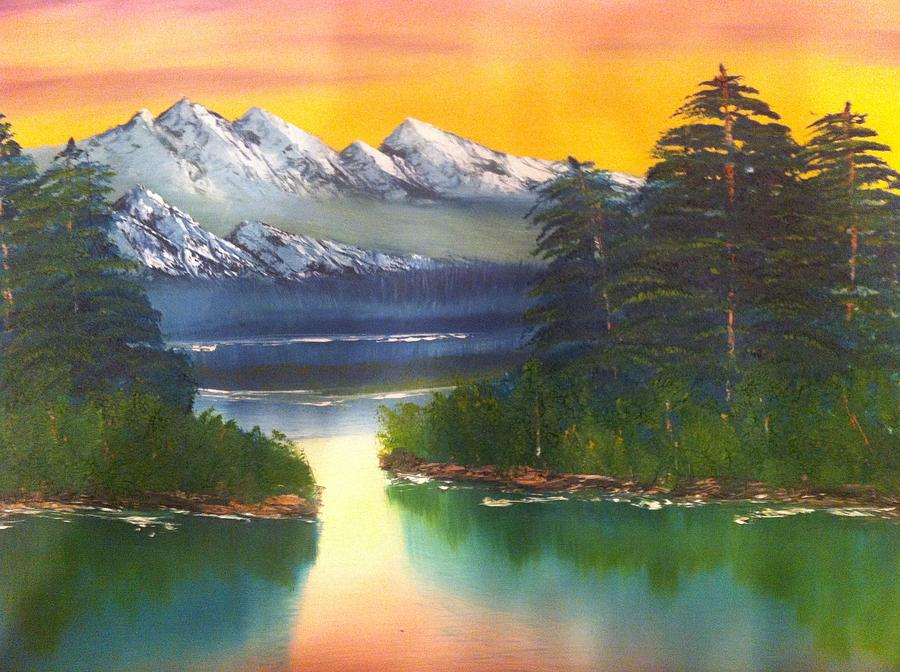 Frosty Peaks Painting