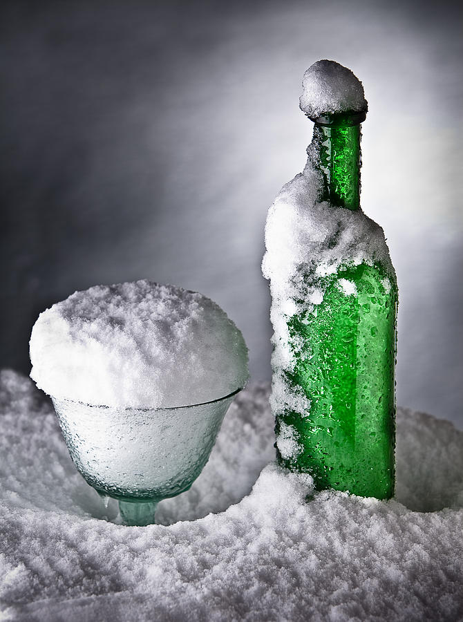Frozen Bottle Ice Cold Drink Photograph