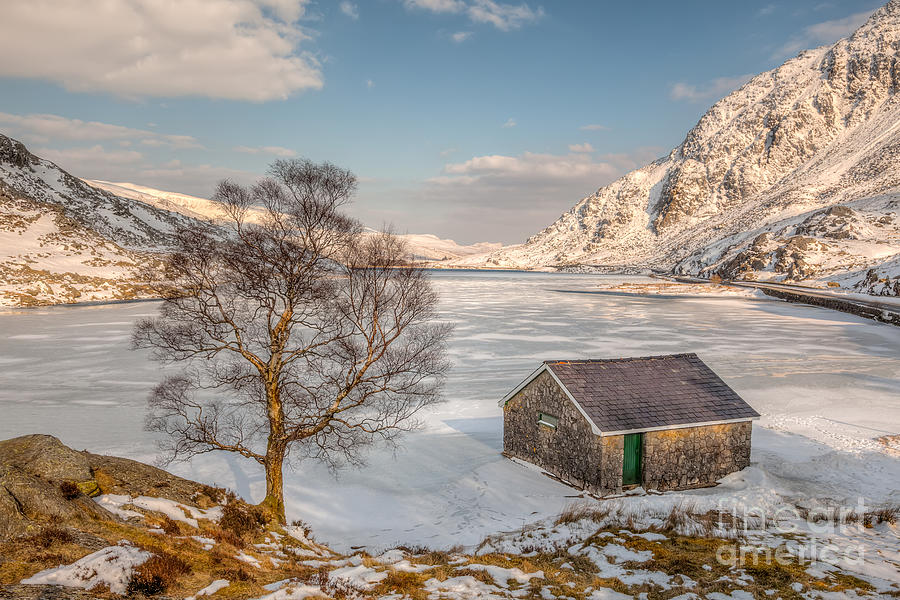 Frozen Lake Ogwen Photograph  - Frozen Lake Ogwen Fine Art Print