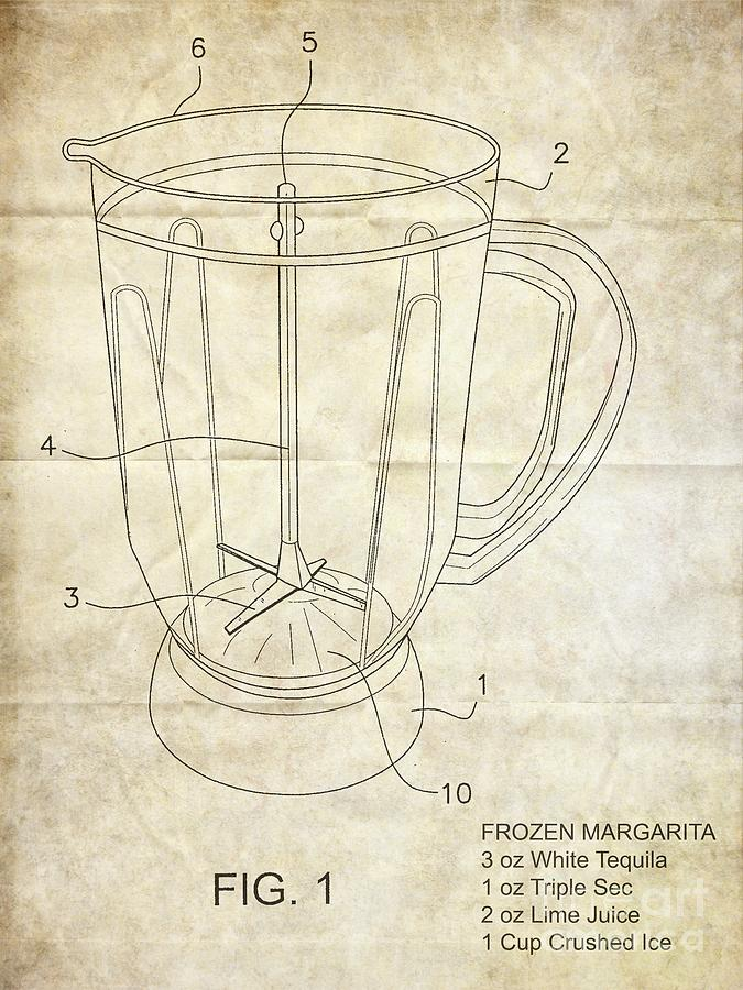 Frozen Margarita Recipe Patent Photograph