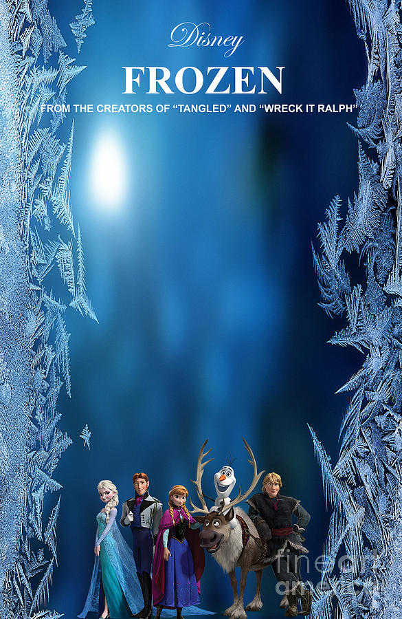 frozen movie poster mixed media by marvin blaine