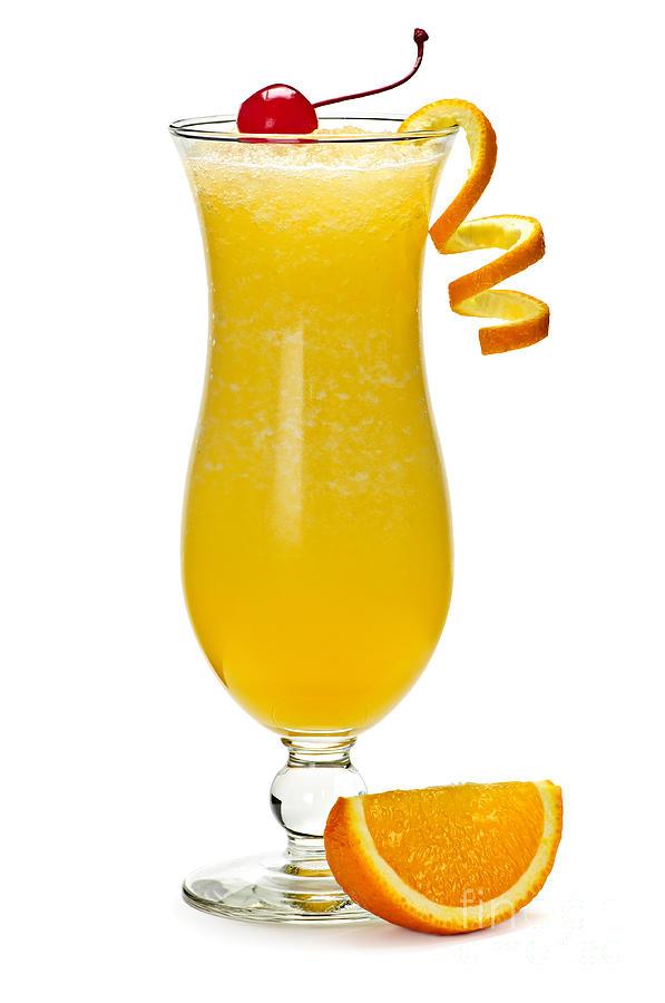 Frozen Orange Drink Photograph