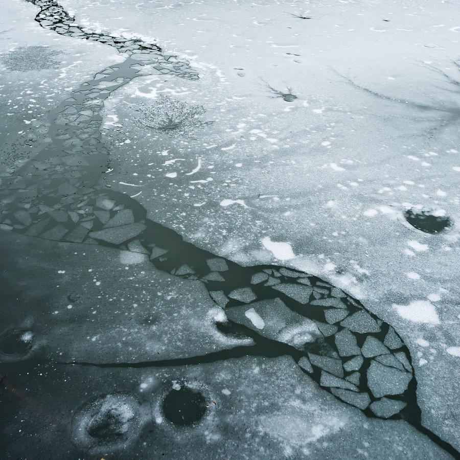 Frozen Pond Photograph