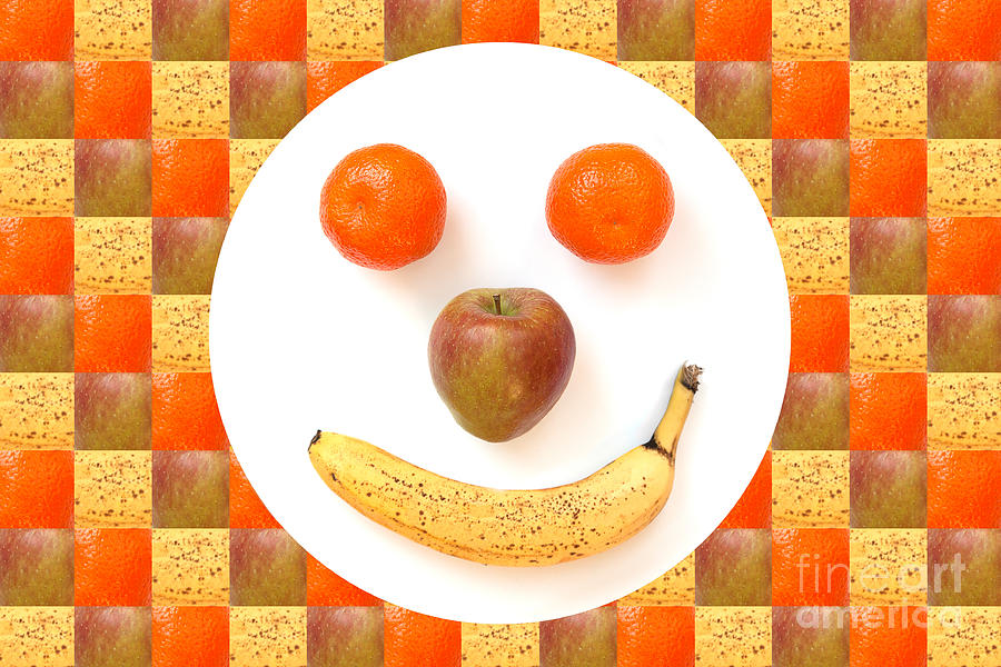Fruit Face Photograph  - Fruit Face Fine Art Print