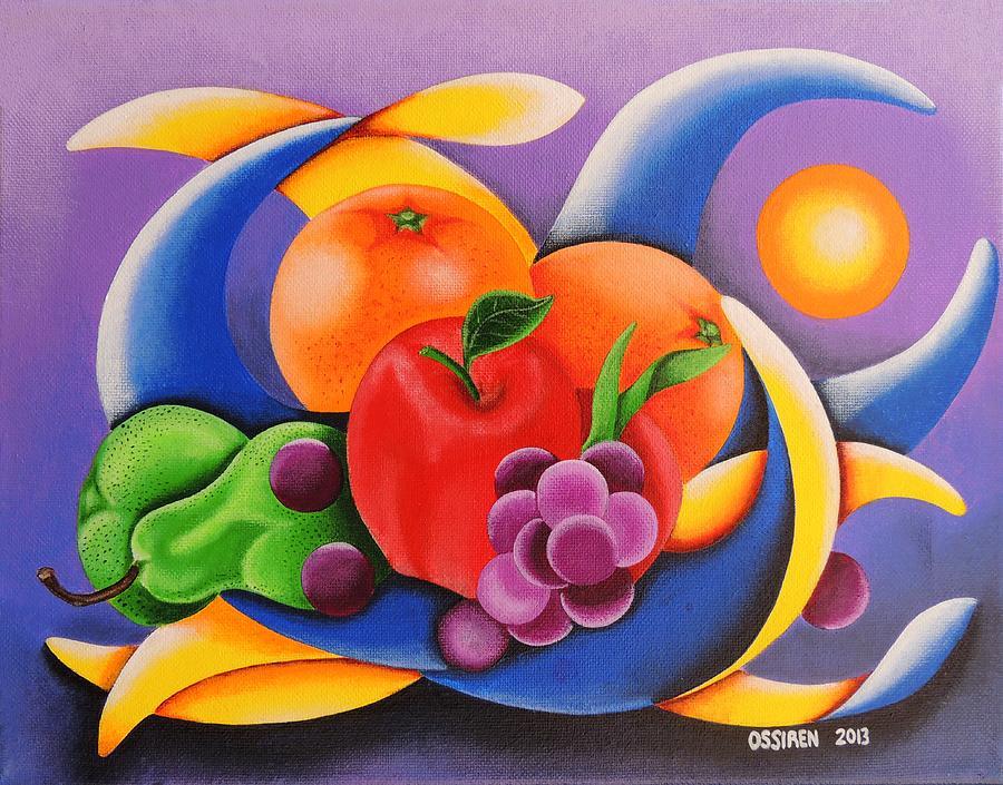 Ossiren Pyrography - Fruit by Oswaldo Cevallos