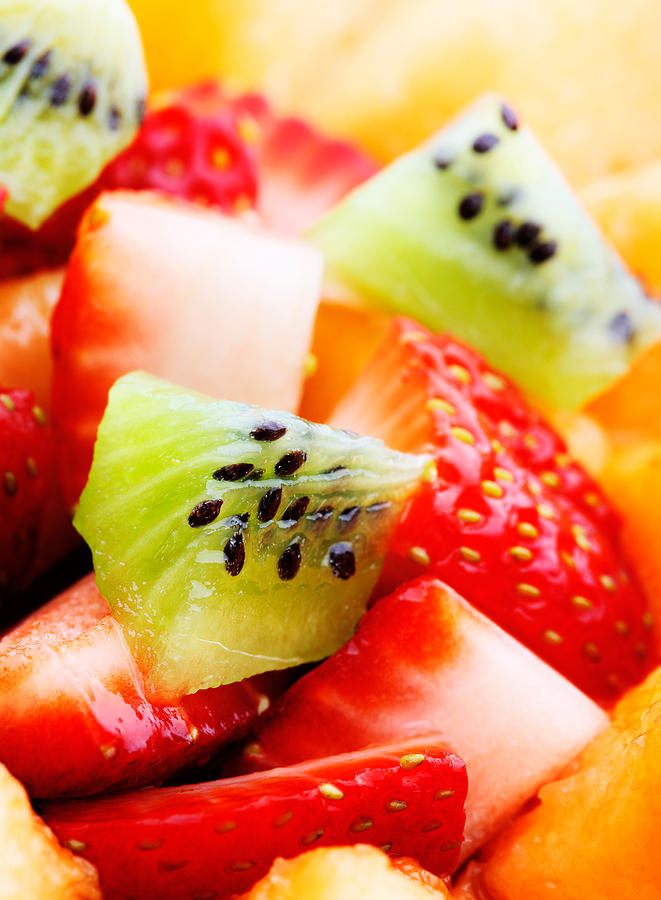 Fruit Salad Macro Photograph