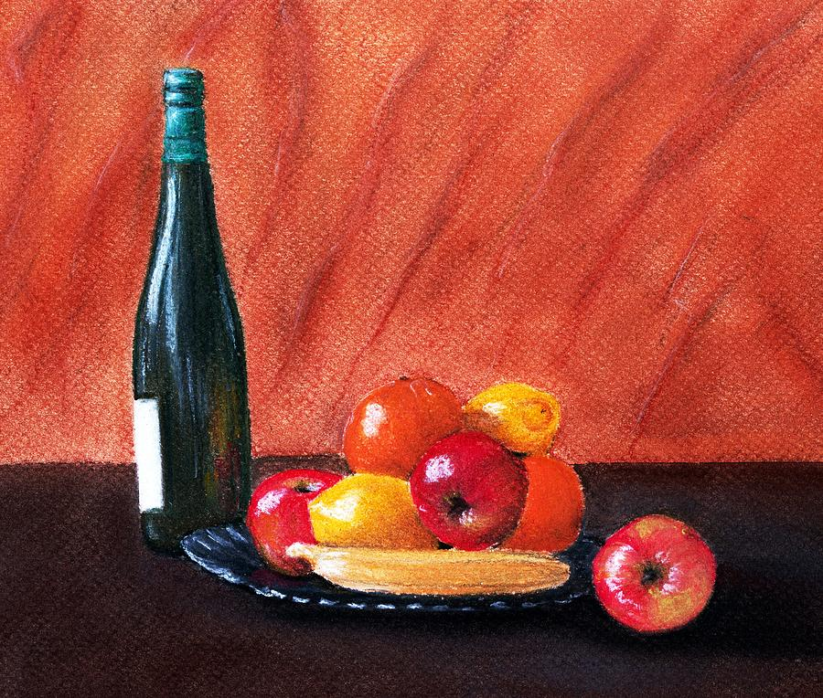 Fruits And Wine Painting