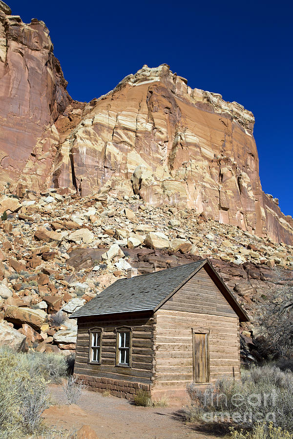 Capitol Reef Photograph - Frutia Schoolhouse Capitol Reef National Park Utah by Jason O Watson