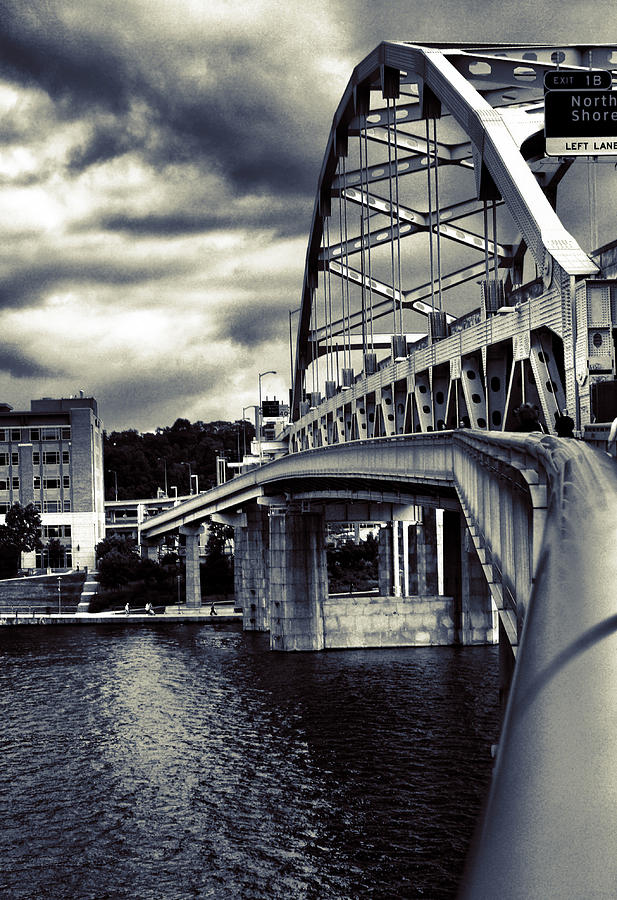 Ft. Duquesne Bridge In Pittsburgh Photograph
