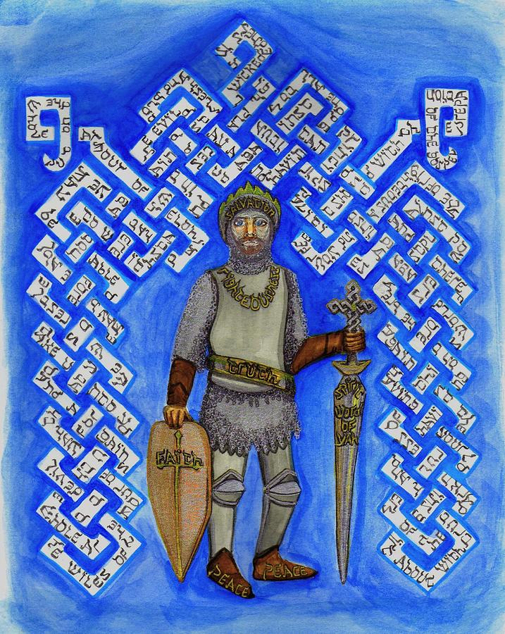 Full Armor Of Yhwh Man Painting