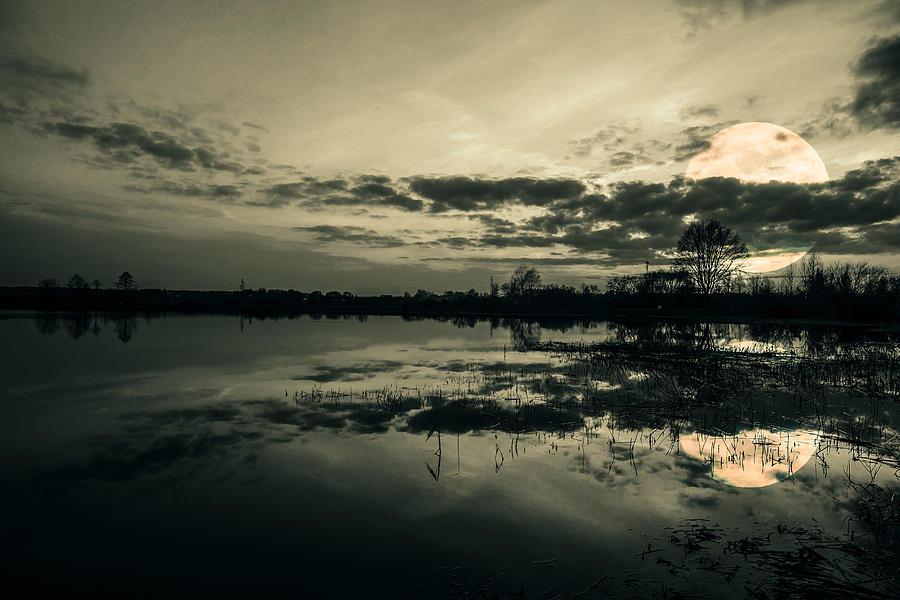 Beautiful Photograph - Full Moon by Jaroslaw Grudzinski