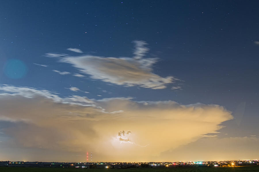 Storms Photograph - Full Moon Light by James BO  Insogna