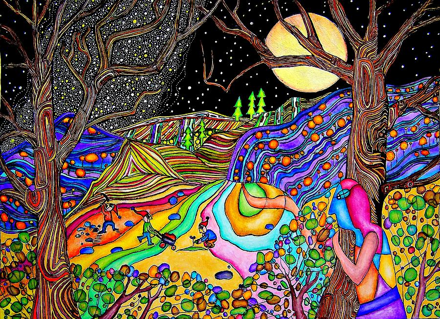 Psychedelic Painting -...