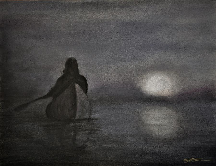 Full Moon Rising Pastel  - Full Moon Rising Fine Art Print
